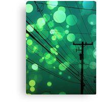 Power Lines graphic design Canvas Print