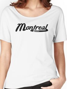 Montreal Quebec Vintage Logo Women's Relaxed Fit T-Shirt