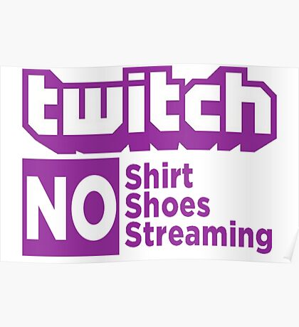 Twitch rules Poster