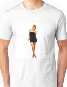 Beautiful model girl posing nu in cosplay costume Unisex T-Shirt