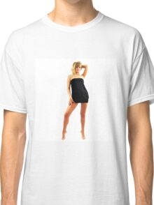 Beautiful model girl posing nu in cosplay costume Classic T-Shirt