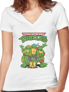 Teenage Mutant Ninja Turtles Women's Fitted V-Neck T-Shirt