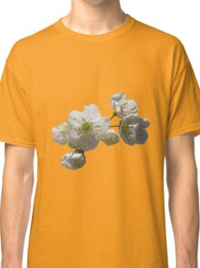 cherries in blosssom on buttercup yellow Classic T-Shirt
