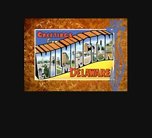 Vintage Wilmington Delaware Greeting Post Card Antique Unisex T-Shirt