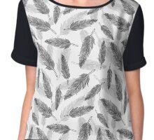feathers pattern  Chiffon Top