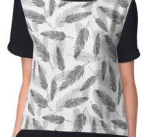 feathers pattern  Chiffon Top