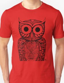Patterned Owl Unisex T-Shirt