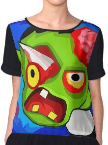 Scary Halloween Zombie Monster Cartoon Chiffon Top