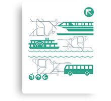 Monorail, Bus and Ferry Canvas Print