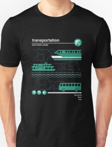 Monorail, Bus and Ferry Unisex T-Shirt