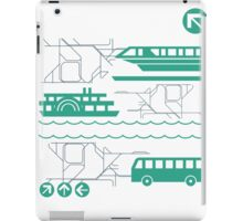 Monorail, Bus and Ferry iPad Case/Skin