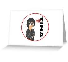 Tina Belcher: Bad (version two colour) Greeting Card