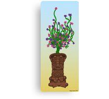 Blooming Tiki Canvas Print