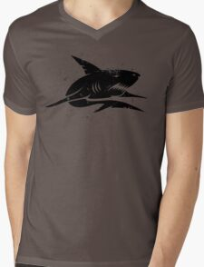 black shark Mens V-Neck T-Shirt