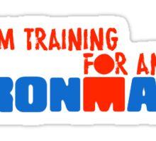 Ironman training Sticker