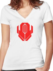 Iconic Red Women's Fitted V-Neck T-Shirt