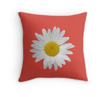 Daisy on fiesta red background Throw Pillow