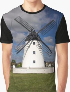 Windmill at Lytham St. Annes - England Graphic T-Shirt
