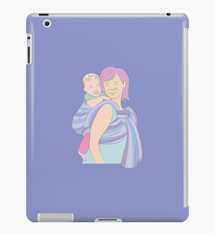 Babywearing  - Purple Woven Wrap Back Carry iPad Case/Skin