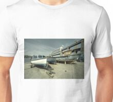 Boats by the the bridge  Unisex T-Shirt
