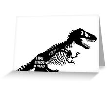 Life Finds A Way – Jurassic Park/World Greeting Card