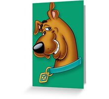 scooby dog style Greeting Card