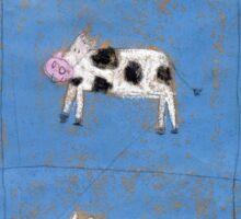 Nine happy cows Sticker