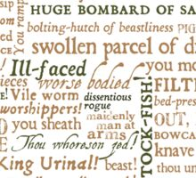 Shakespeare's Insults Collection - Revised Edition (by incognita) Sticker