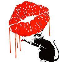 Rat Kiss Photographic Print