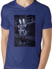 Old Microscope Mens V-Neck T-Shirt