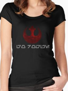 Rebel Alliance- Go Rogue Women's Fitted Scoop T-Shirt