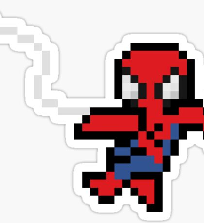 8-Bit Swinging Spider-Man Sticker