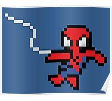 8-Bit Swinging Spider-Man Poster