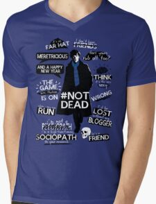 Sherlock quotes Mens V-Neck T-Shirt
