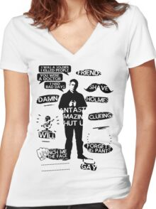John Watson Quotes Women's Fitted V-Neck T-Shirt