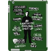 John Watson Quotes iPad Case/Skin