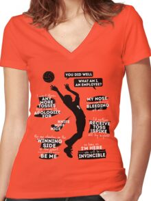 Kageyama Tobio Quotes Women's Fitted V-Neck T-Shirt