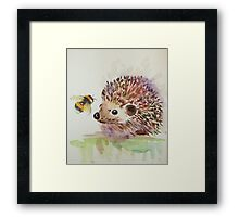 Hedgehog and Bumble bee  Framed Print
