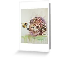 Hedgehog and Bumble bee  Greeting Card