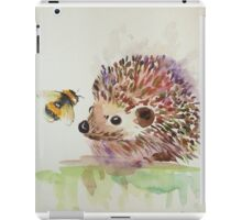 Hedgehog and Bumble bee  iPad Case/Skin