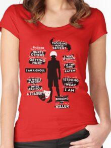 Kaneki Ken Quotes Women's Fitted Scoop T-Shirt