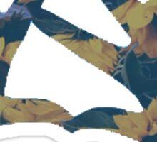 Theta Sunflowers Sticker