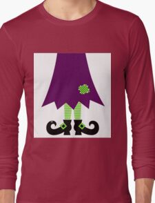 Vector - Stylized retro Witch legs Long Sleeve T-Shirt