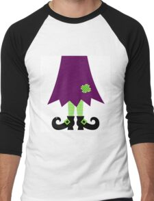 Vector - Stylized retro Witch legs Men's Baseball ¾ T-Shirt