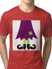 Vector - Stylized retro Witch legs Tri-blend T-Shirt