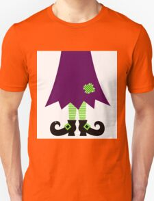 Vector - Stylized retro Witch legs Unisex T-Shirt