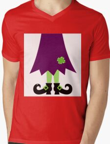 Vector - Stylized retro Witch legs Mens V-Neck T-Shirt