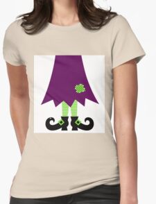 Vector - Stylized retro Witch legs Womens Fitted T-Shirt