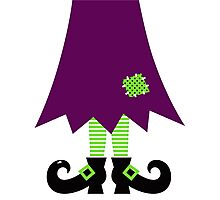 Vector - Stylized retro Witch legs Photographic Print
