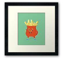 Happy French Fries Framed Print
